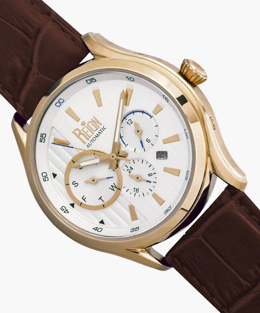 Reign Gustaf brown watch