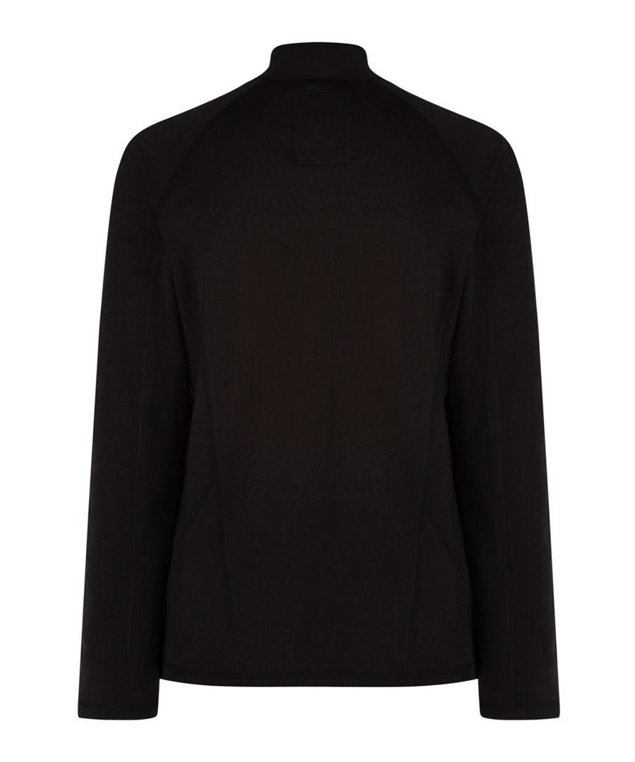 Black half zip jumper