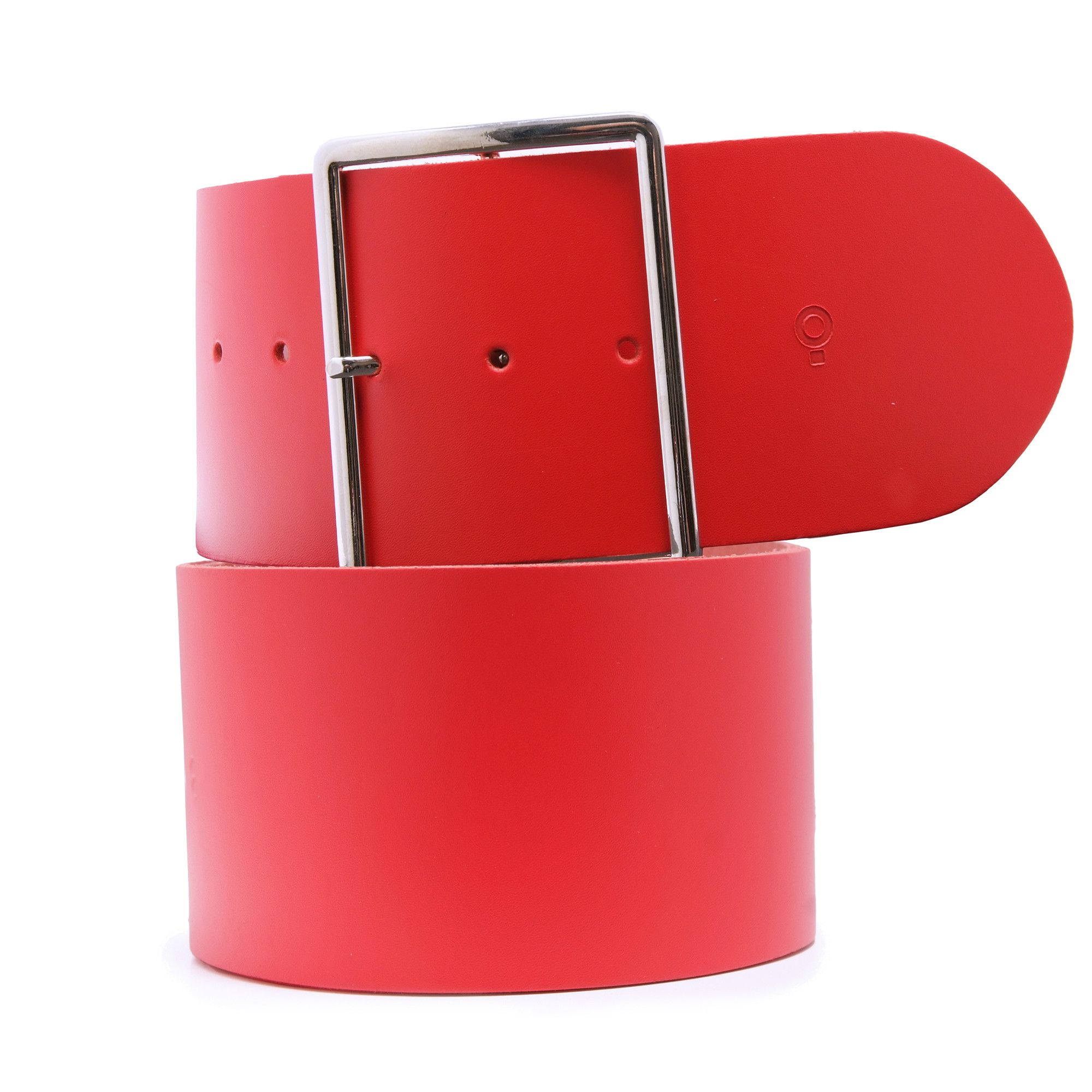 Womens Red Leather Belt