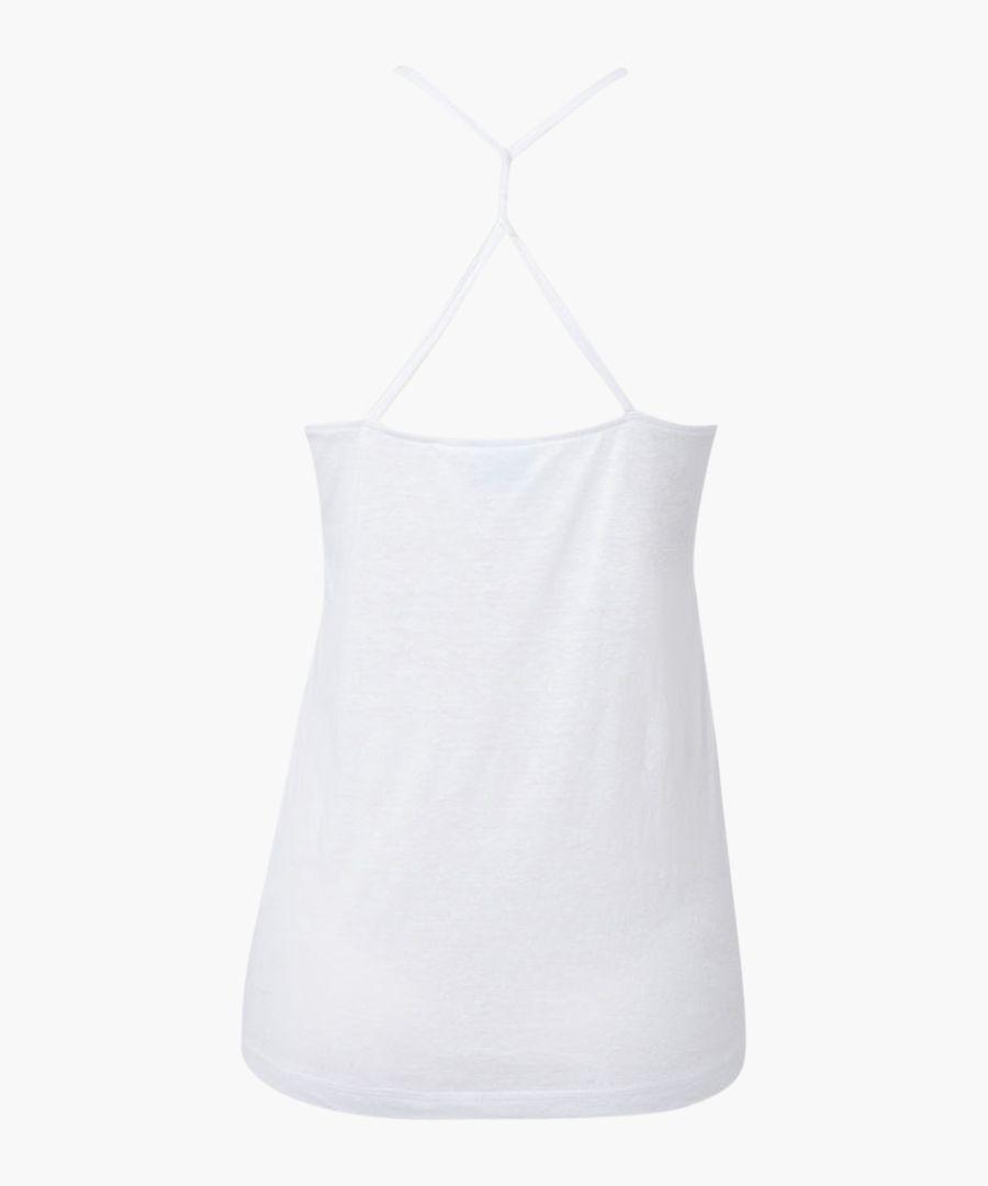 Super white cotton blend tank