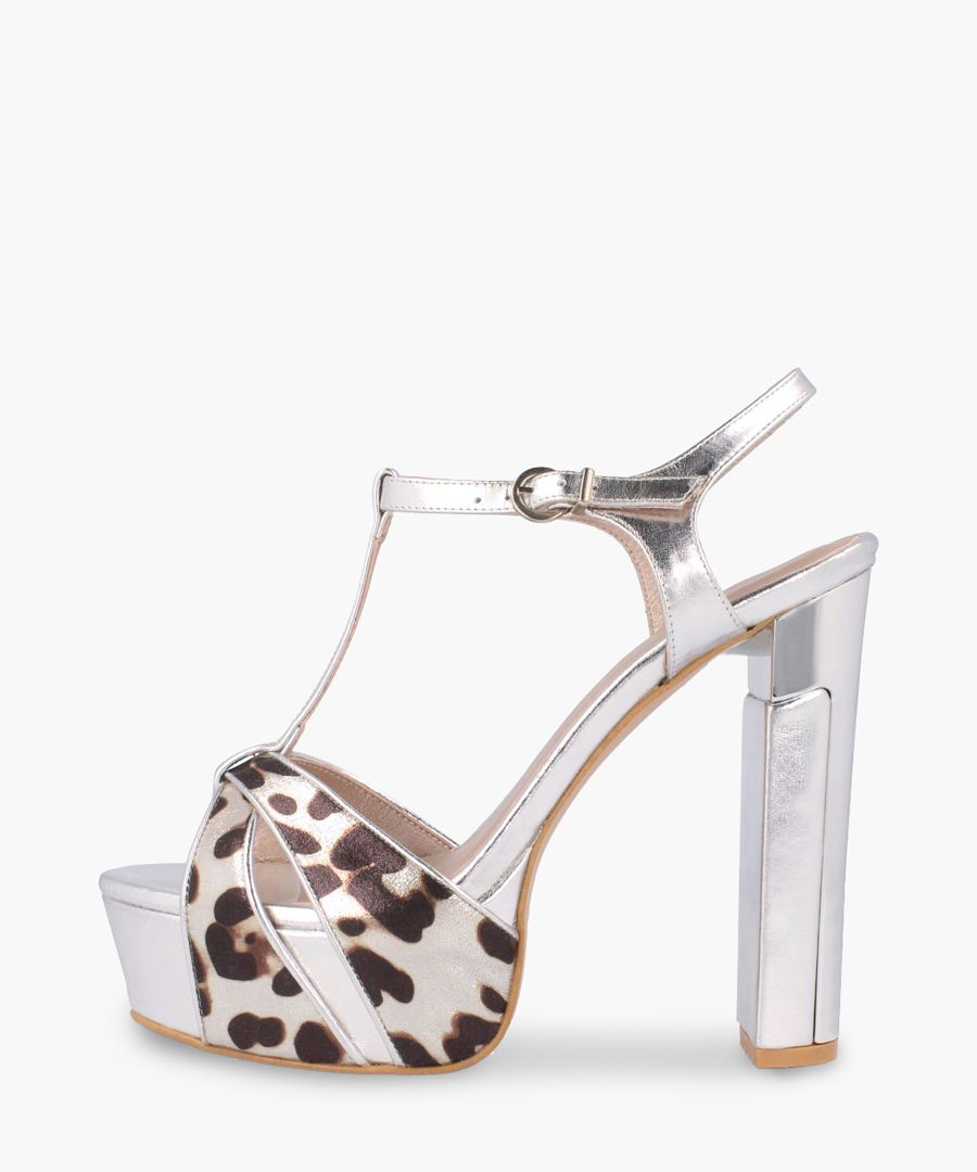 Animal printed leather heels