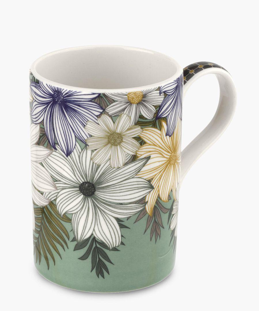 4pc Atrium floral mug 12oz