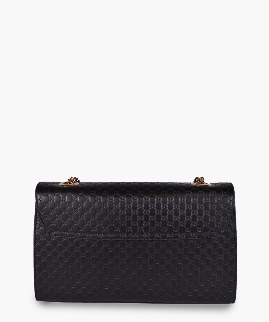 Guccissima Emily black leather crossbody