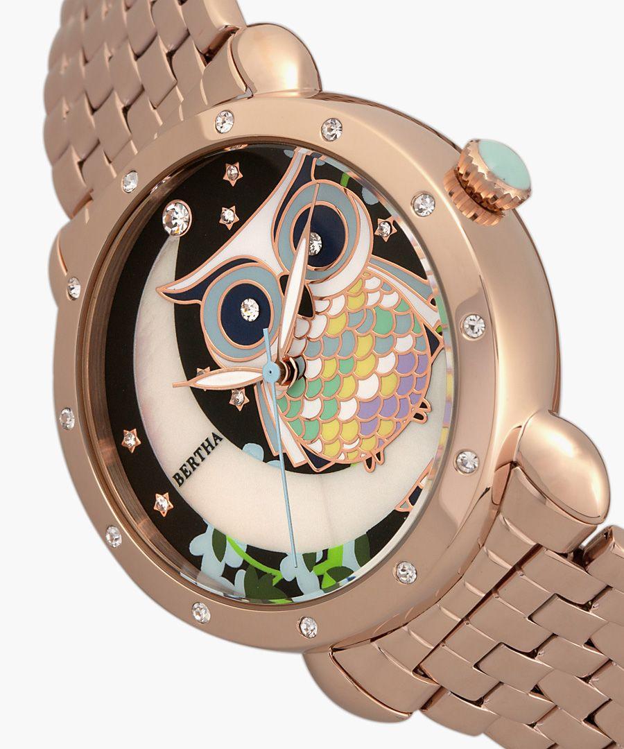 Ashley rose gold-tone watch