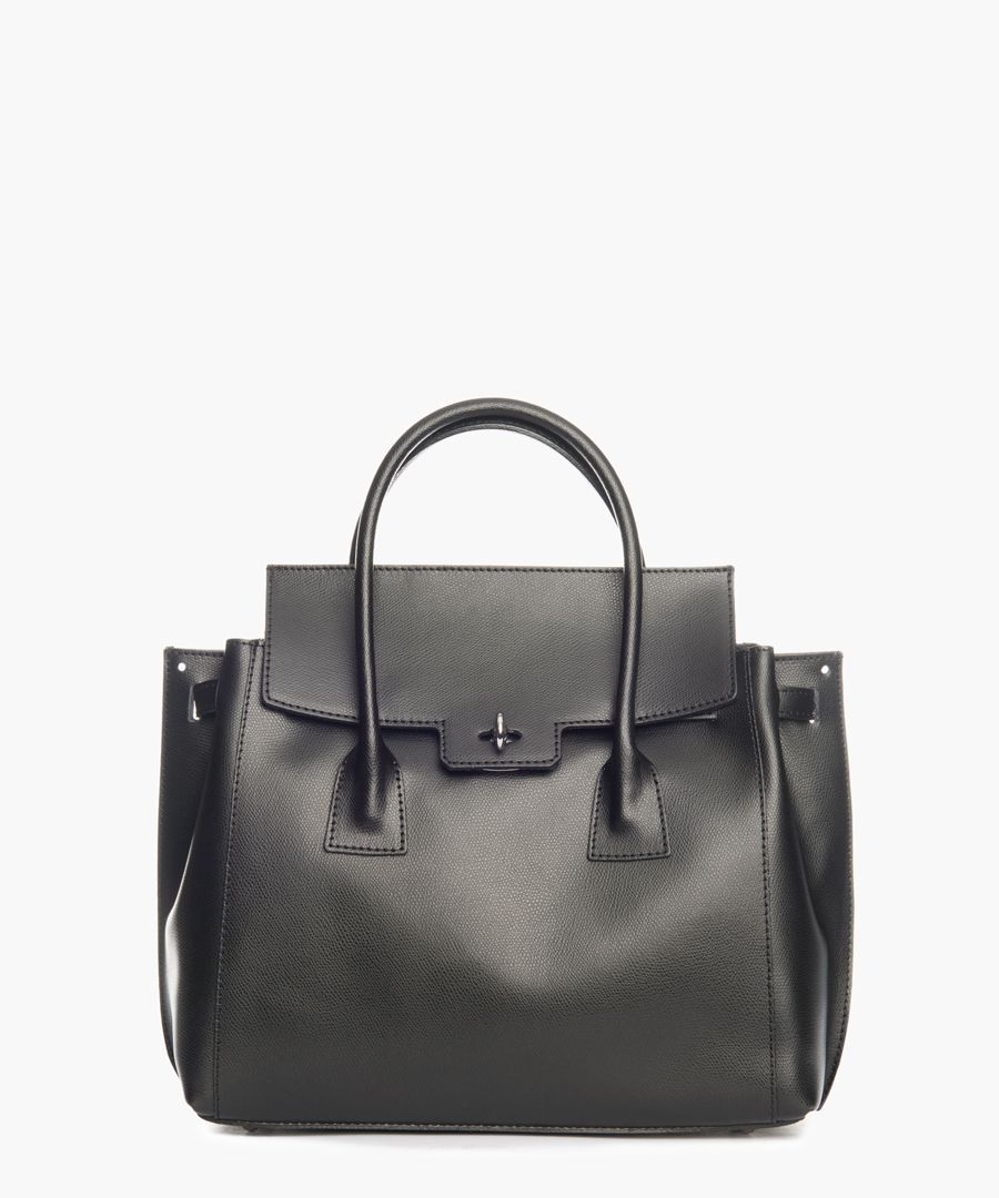 Murlo black leather shopper