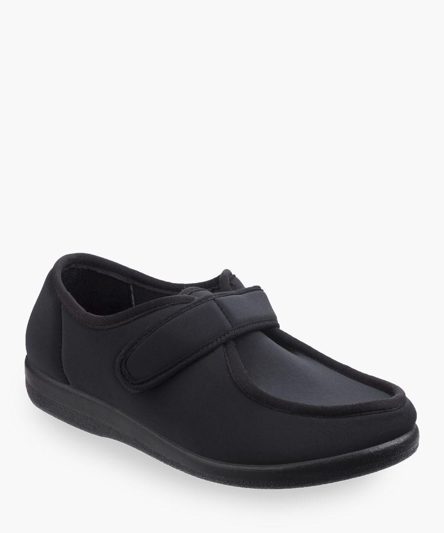 Mens black slippers
