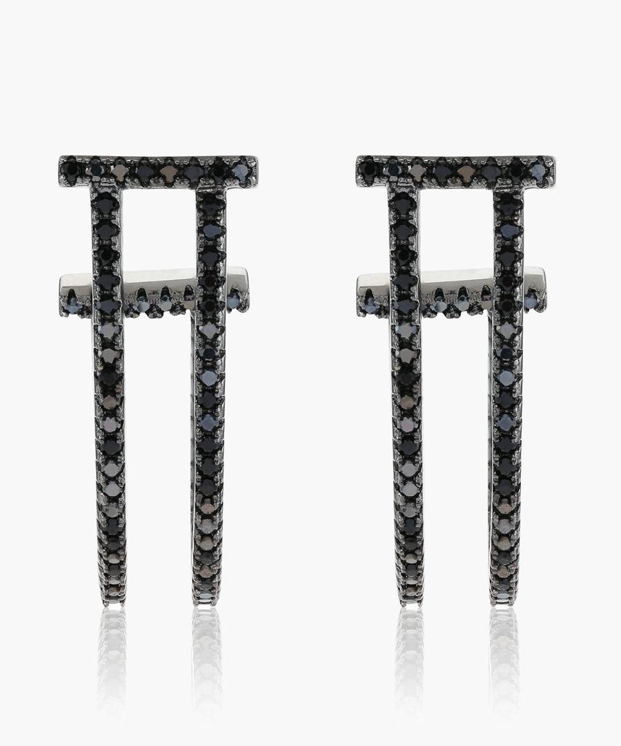 Fucino Lungo black earrings
