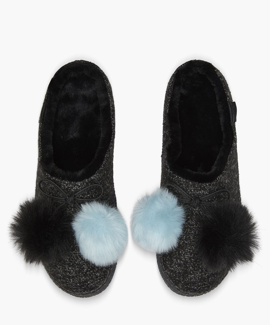Ivy black slippers