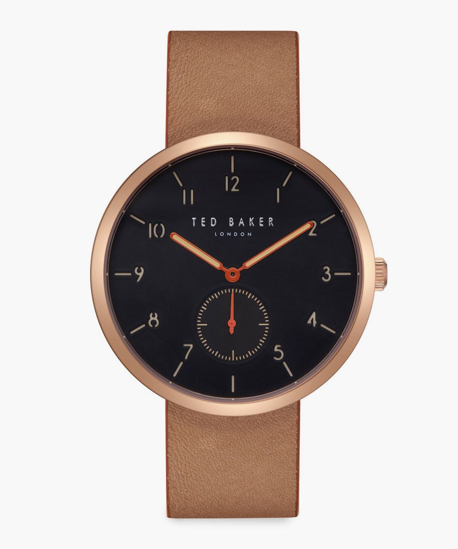Josh brown leather and stainless steel watch