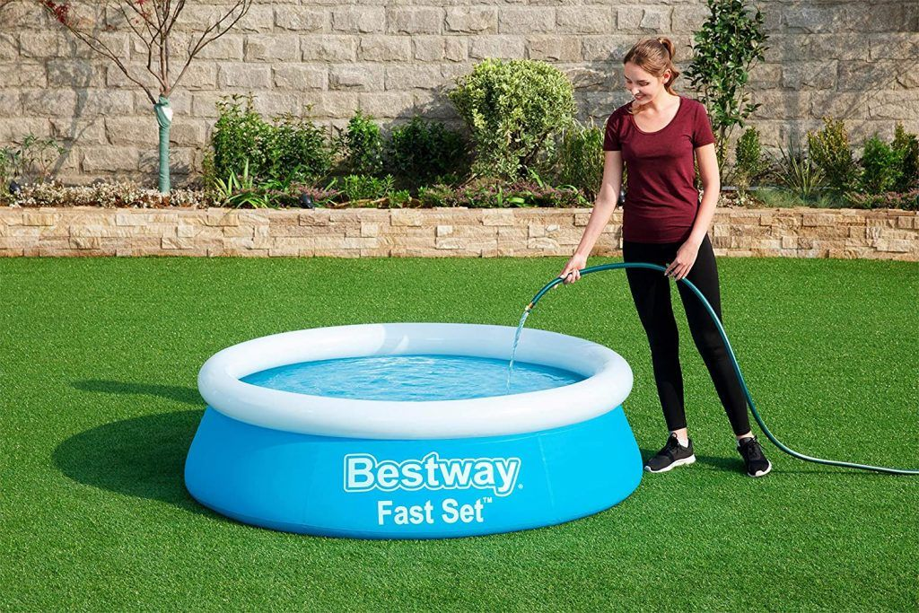 Bestway Fast Set Swimming Pool for Kids and Adults  - Blue