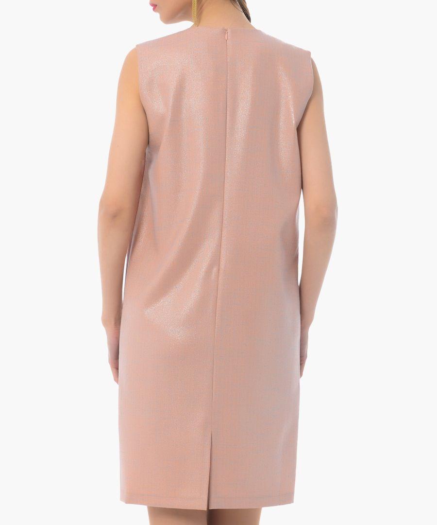 rose floral cotton blend shift dress