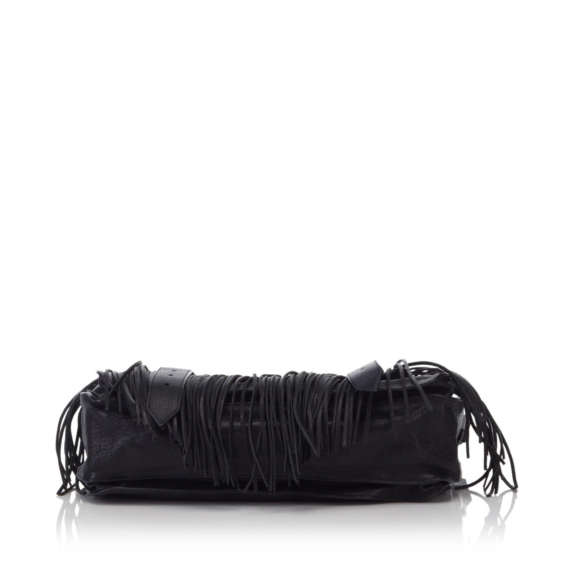 Proenza Schouler Leather Fringe PS1 Black