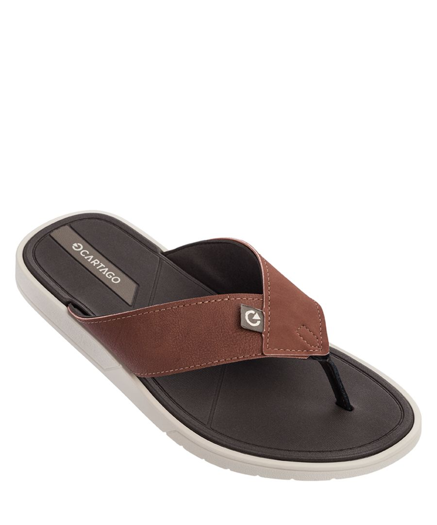 Valencia Brick black flip flops