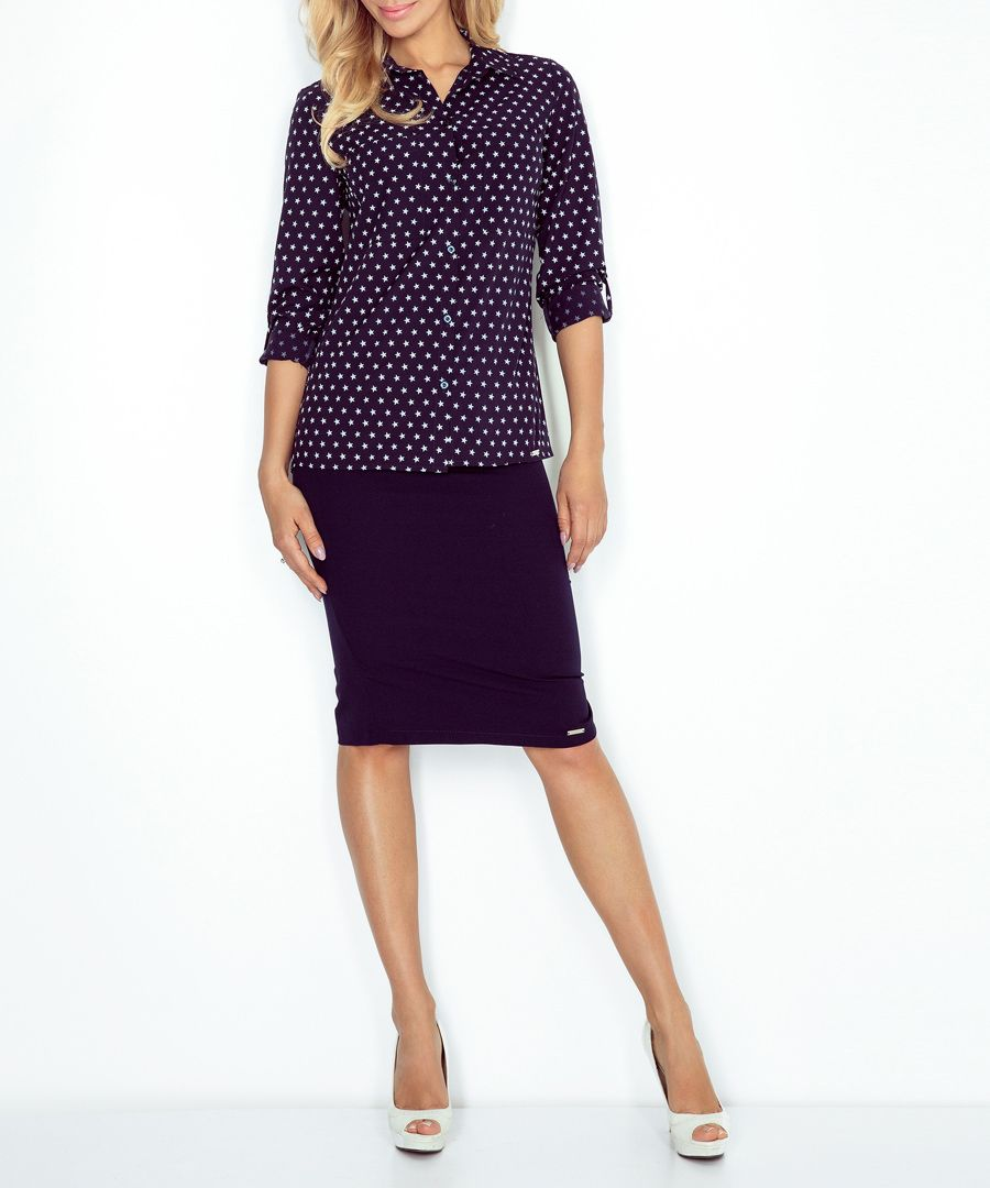 Nay star print button-up blouse