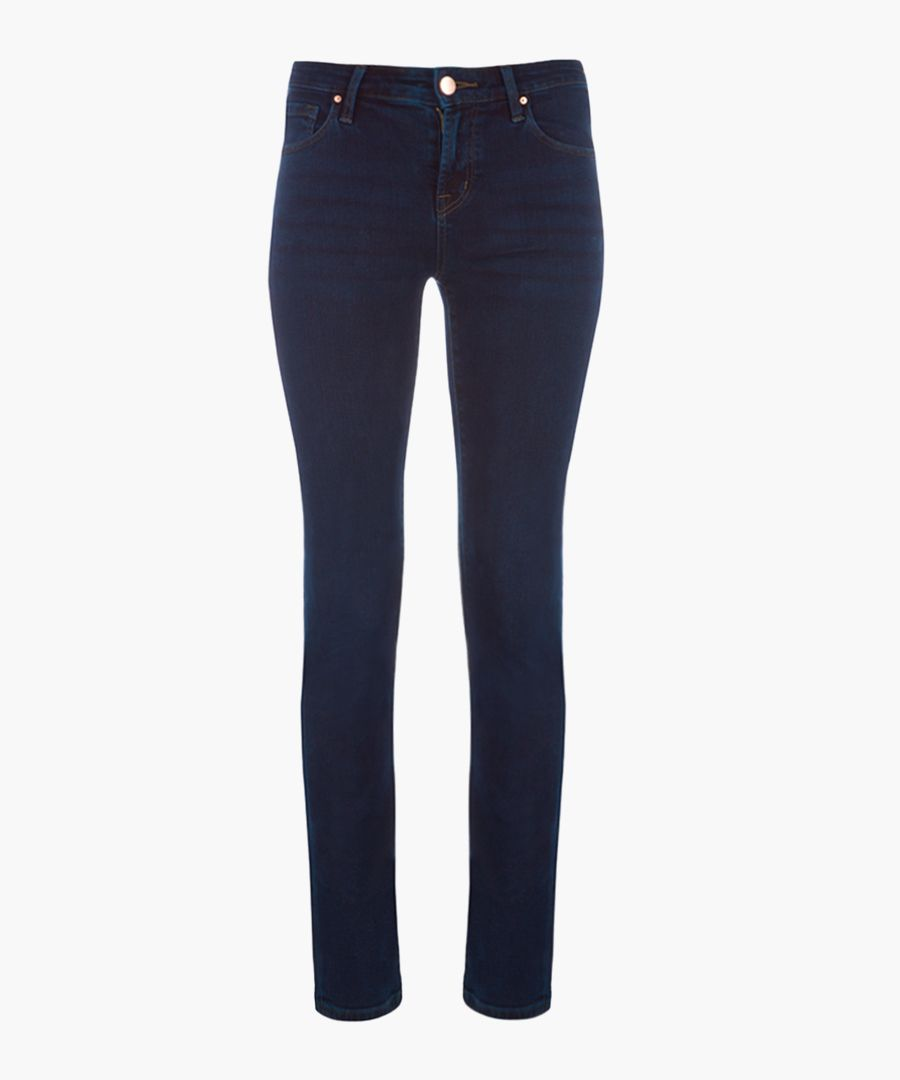 Amelia Mid-Rise Stright Throne Jean
