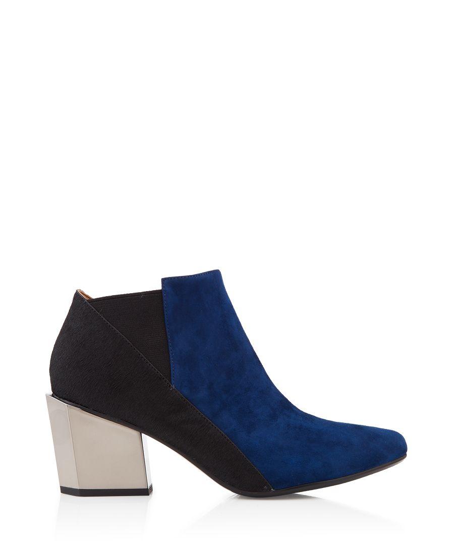 Tetra Jacky navy and black leather heels