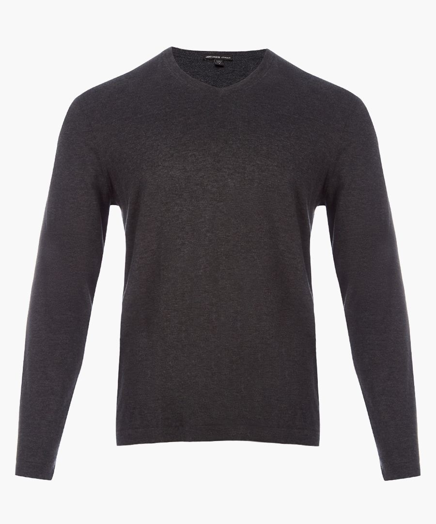 Heather charcoal pure cotton jumper