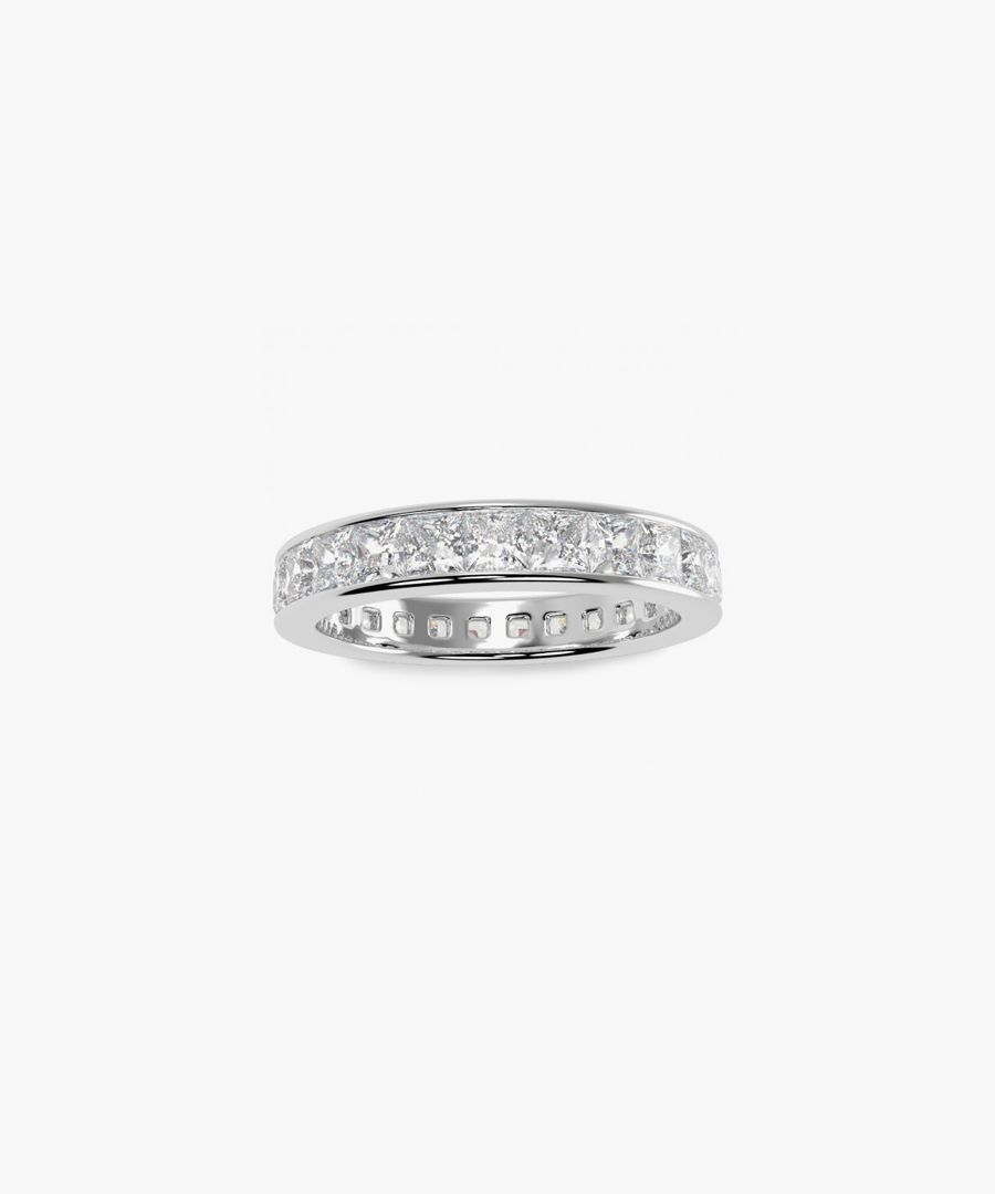 Platinum and 2.00ct princess-cut diamond full eternity ring