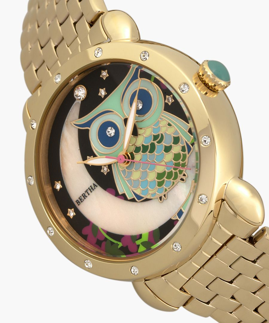 Ashley gold-tone watch