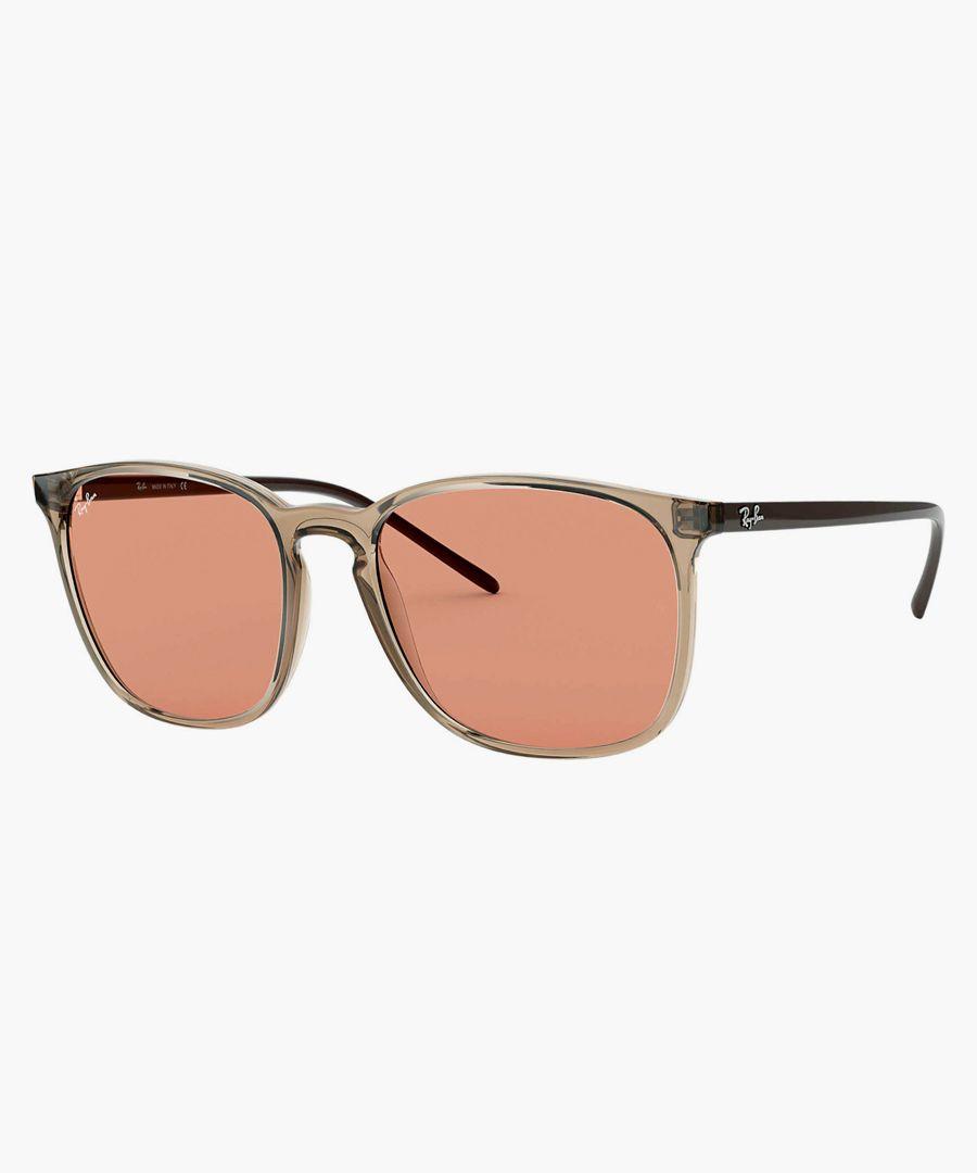 Square brown sunglasses