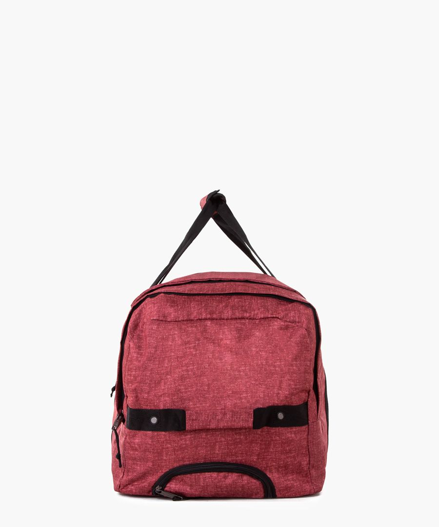 Red weekend holdall
