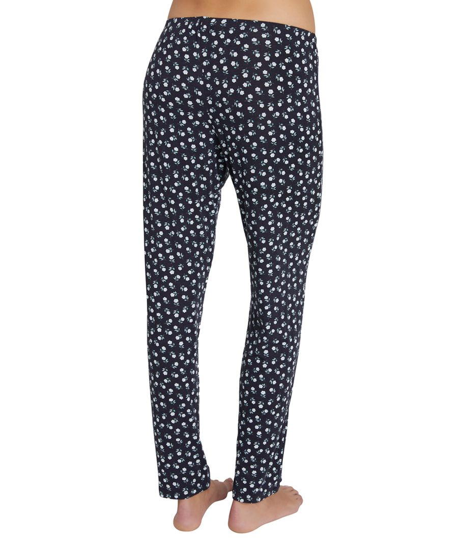 Petite fleur black and ivory trousers
