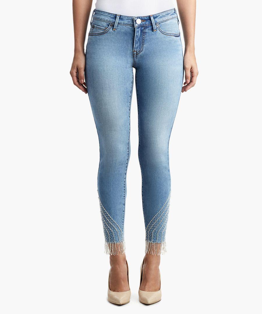 halle fringe detail skinny jeans