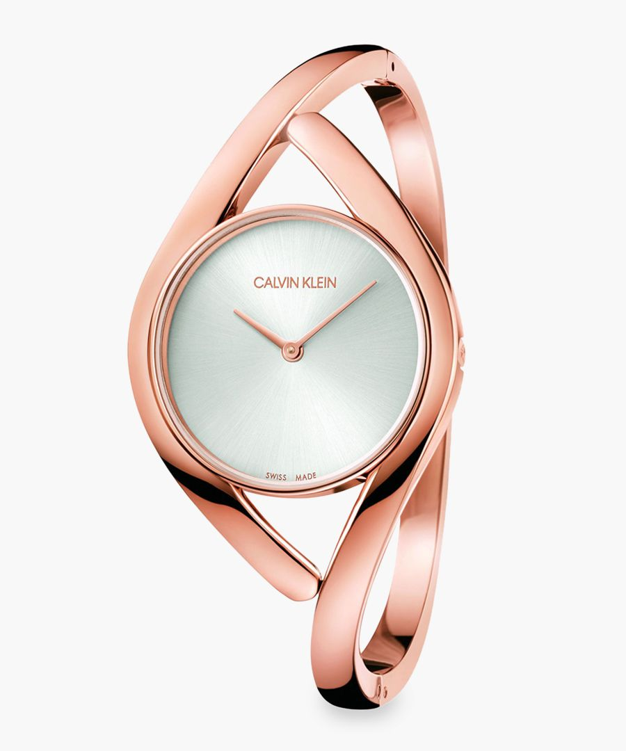 Womens rose gold-plated watch