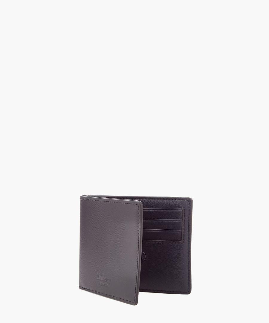 Black leather card wallet