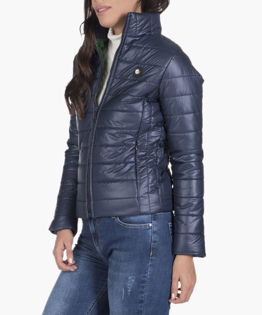 Navy blue quilted jacket