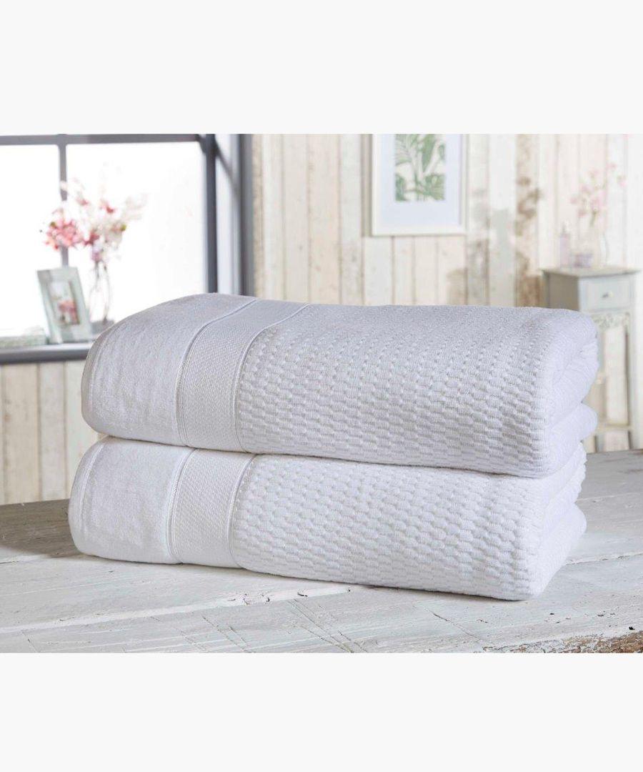 2pc white cotton towels