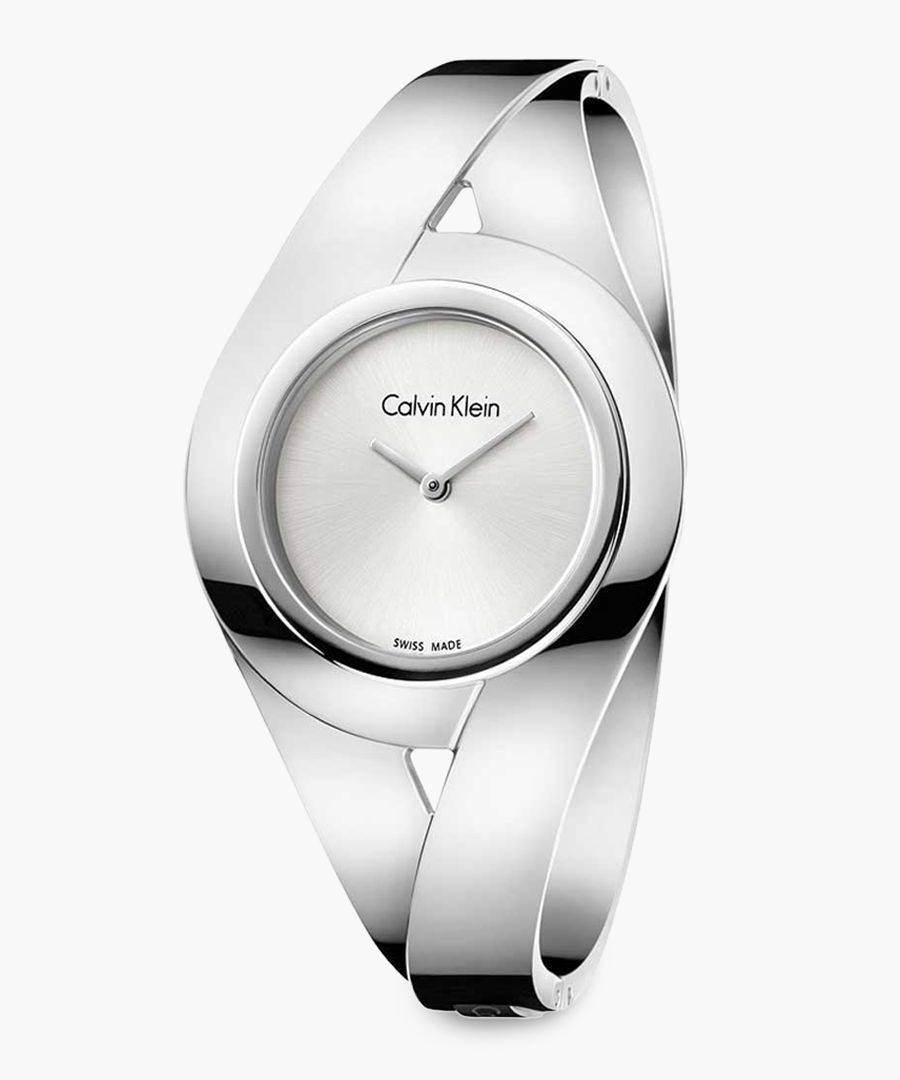 Silver-plated and white watch