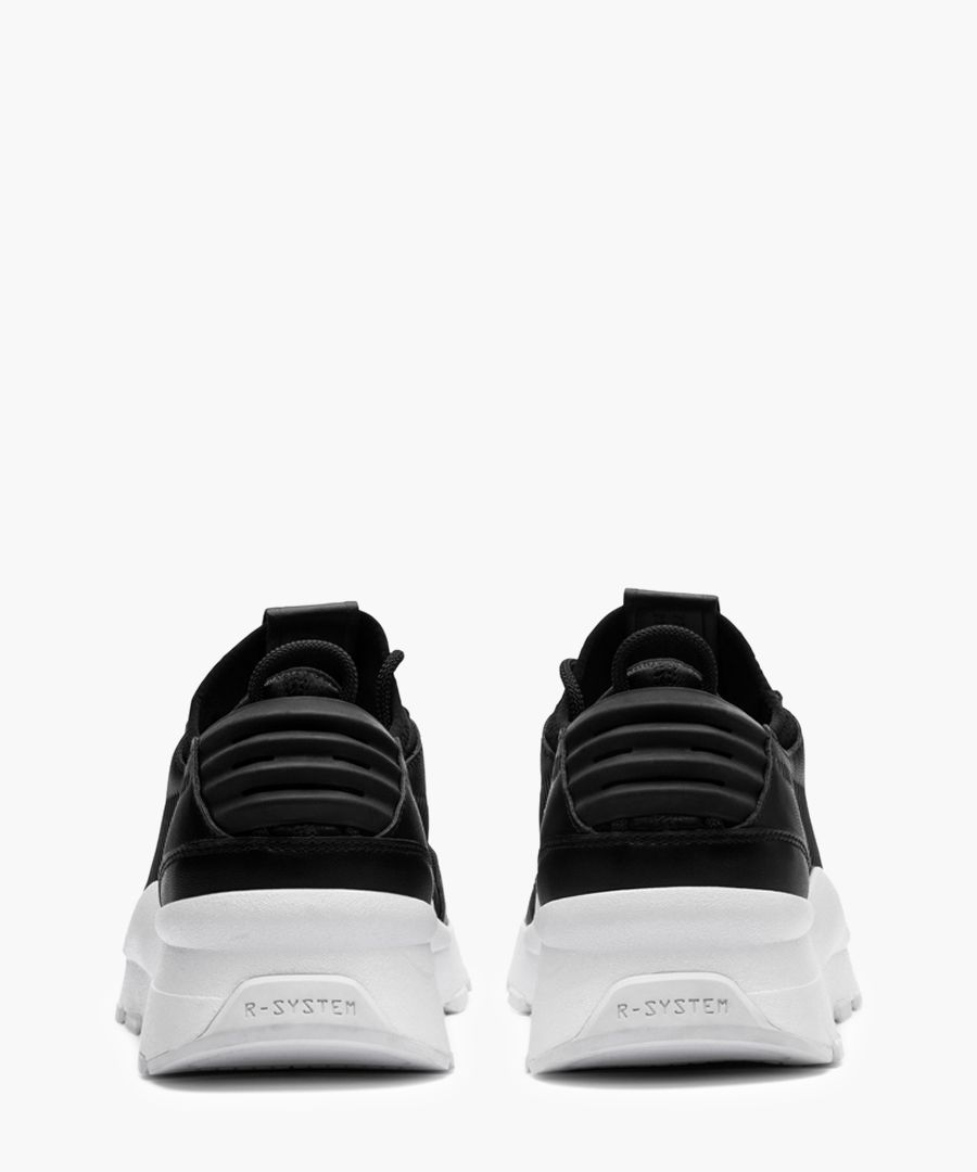 RS-0 sound black leather trainers