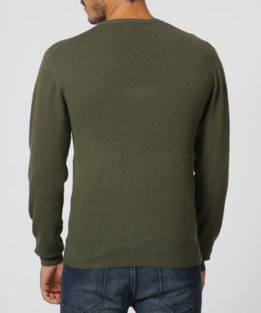 Khaki cashmere blend jumper