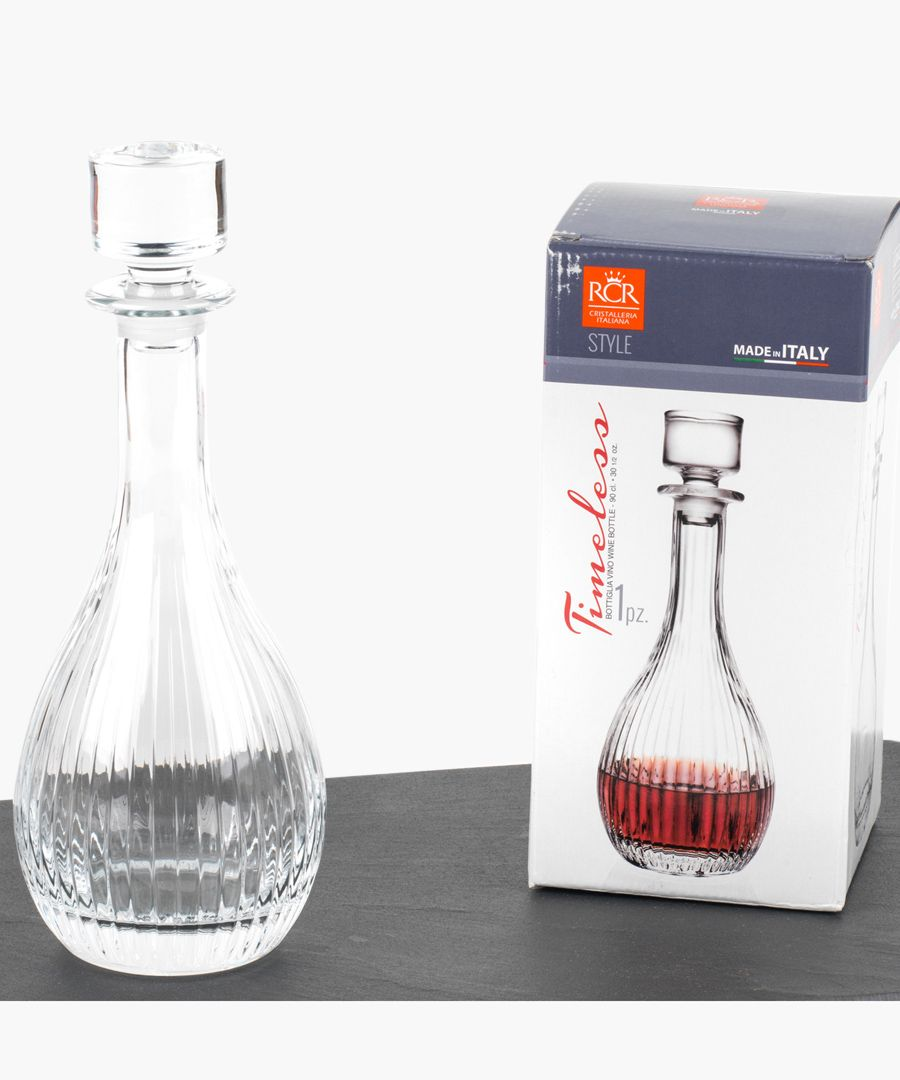 Crystal glassware timeless round wine decanter