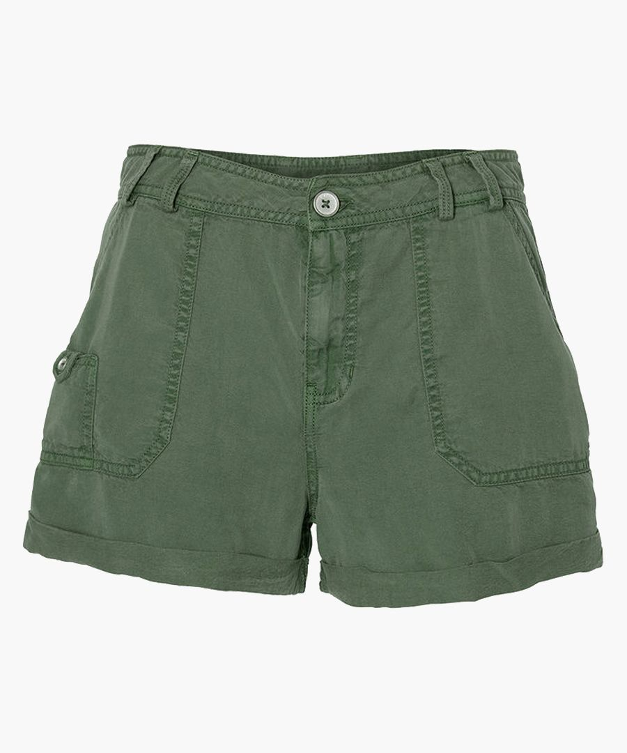 Drapey olive green shorts