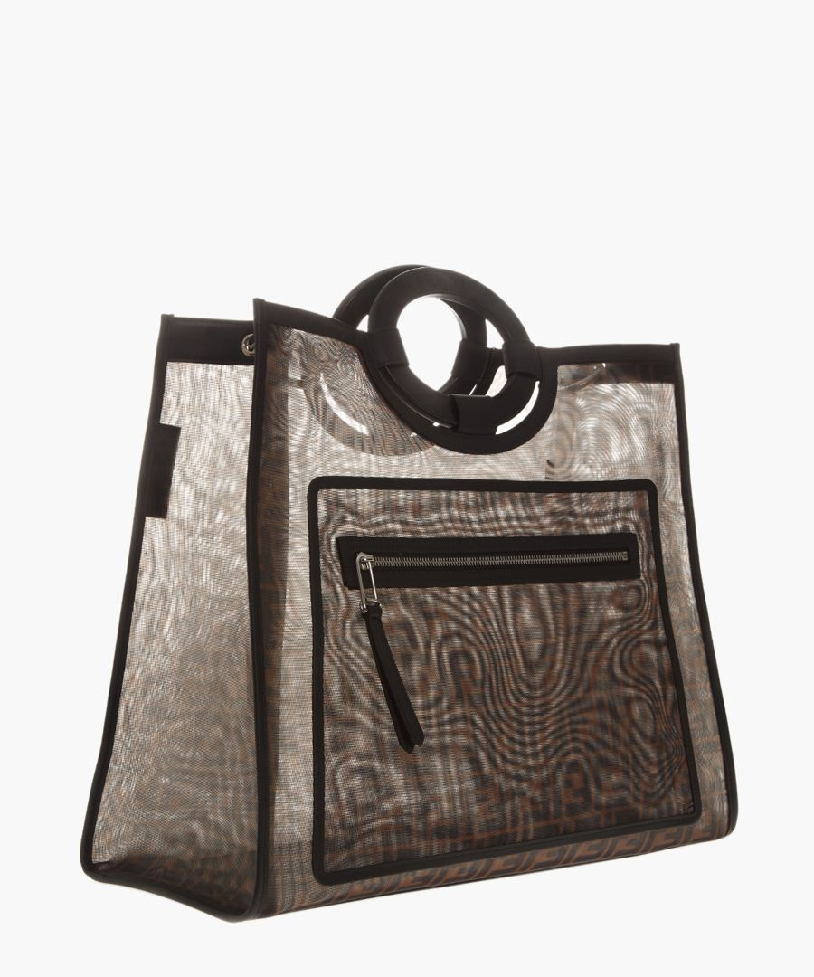 Ff monogram brown mesh shopper