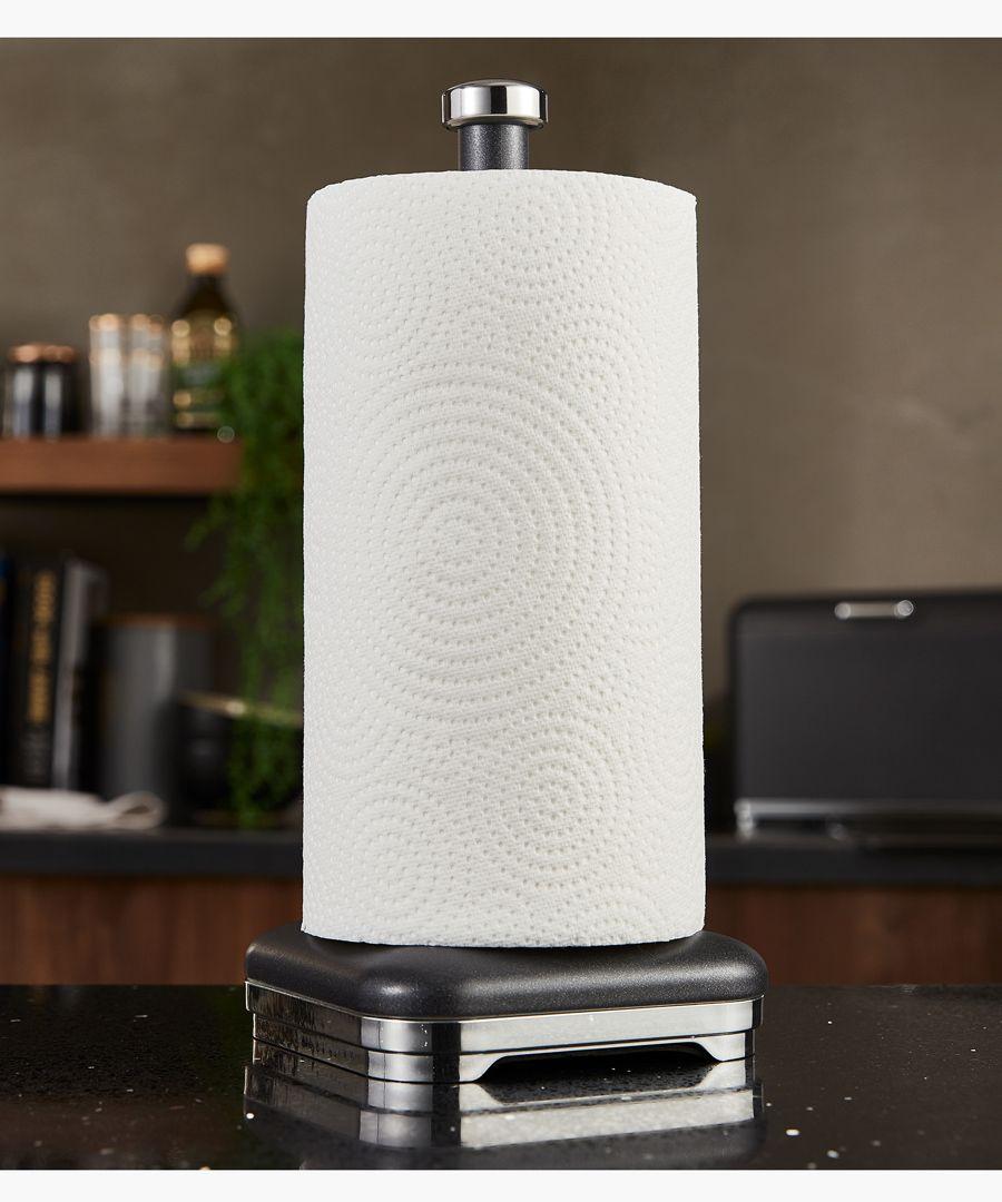Glitz black kitchen towel pole