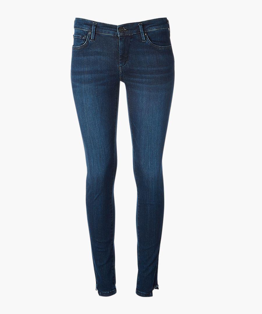 Denim blue skinny jeans