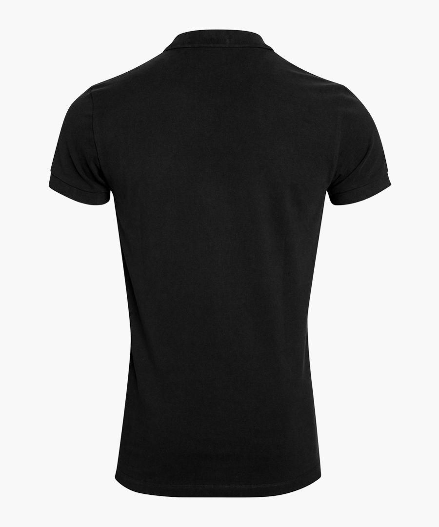 Black pure organic cotton polo shirt