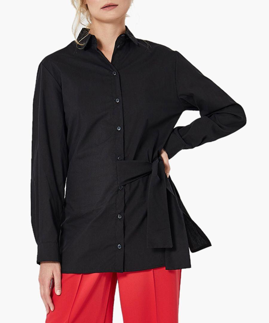 Black woven shirt