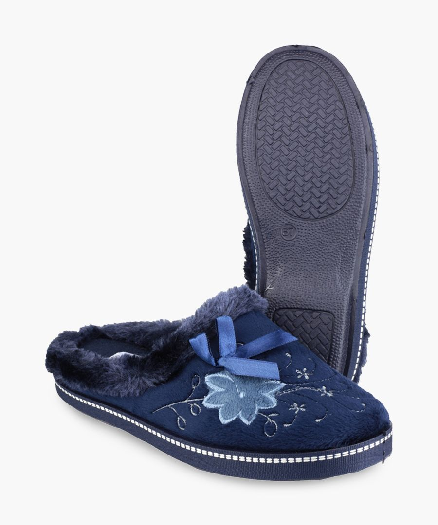 Womens navy slippers