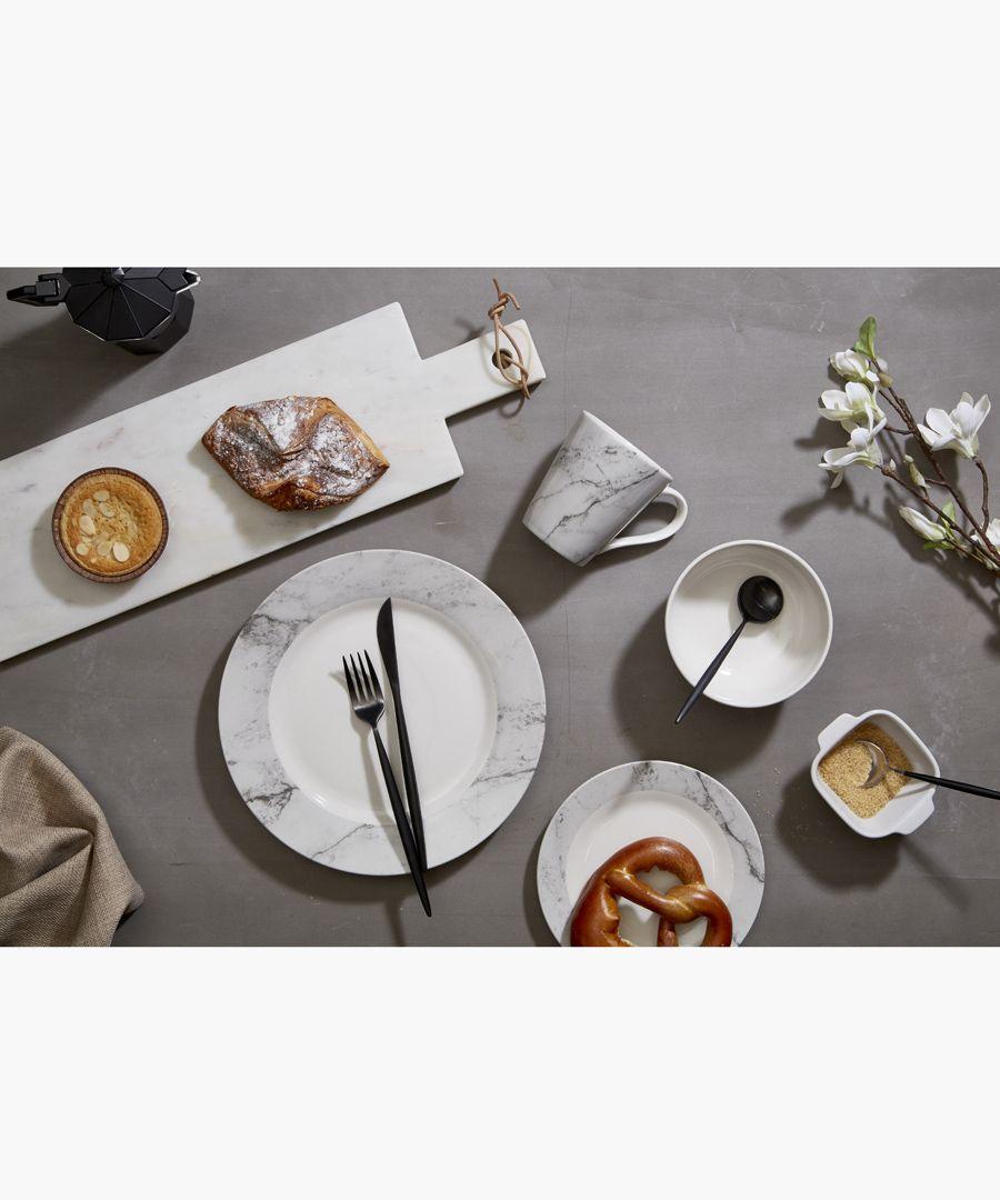 Premier Modern Retro Cutlery Set, Matte Black Stainless Steel, 16pc Homeware/Dining/Tableware black