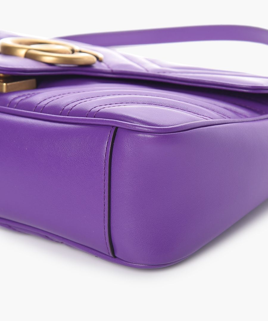 GG Marmont matelasse purple crossbody