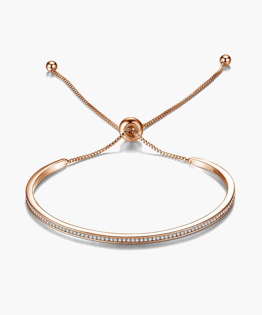 Rose gold-tone Swarovski crystal friendship bracelet
