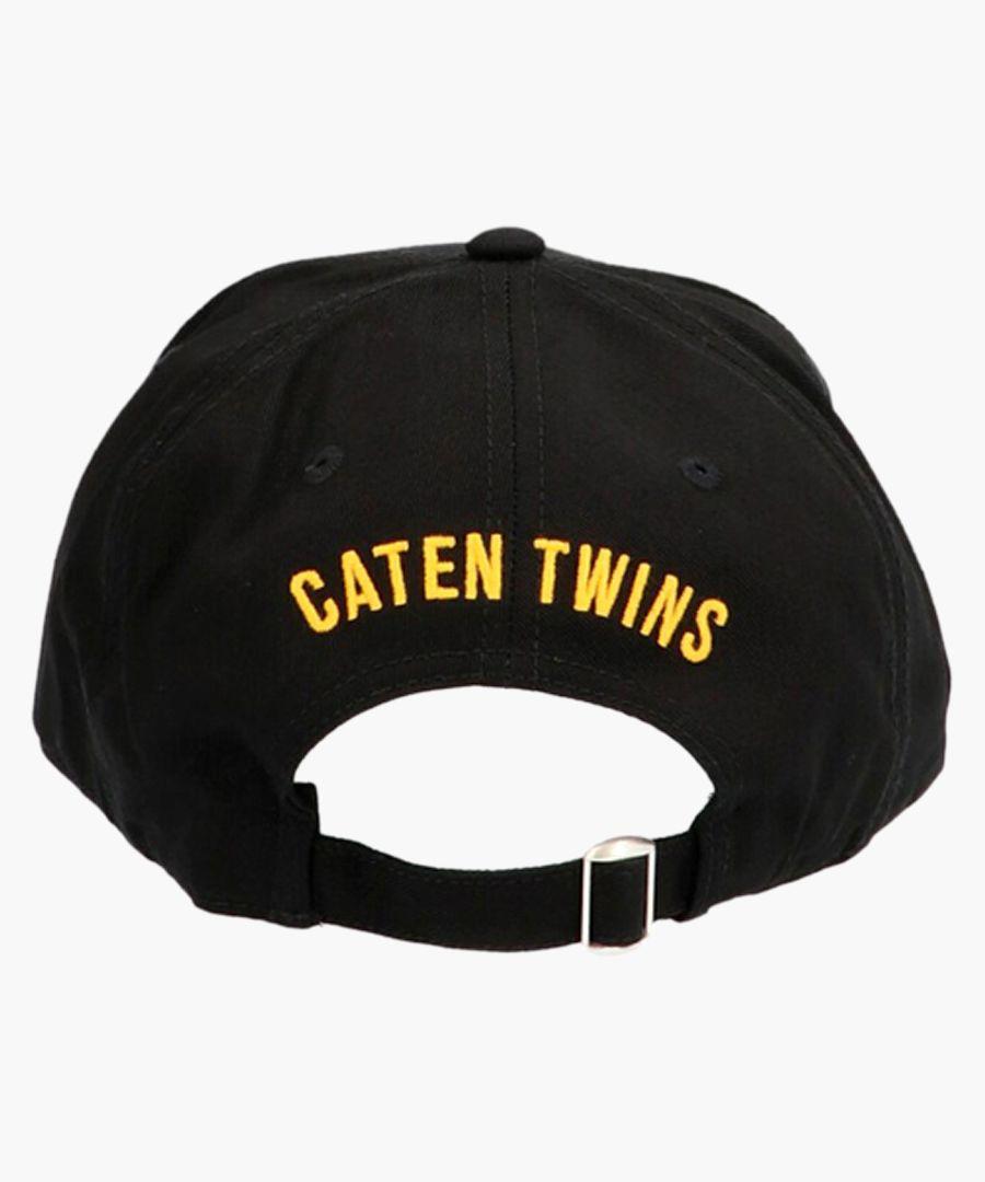 Black cotton Canada patch baseball cap