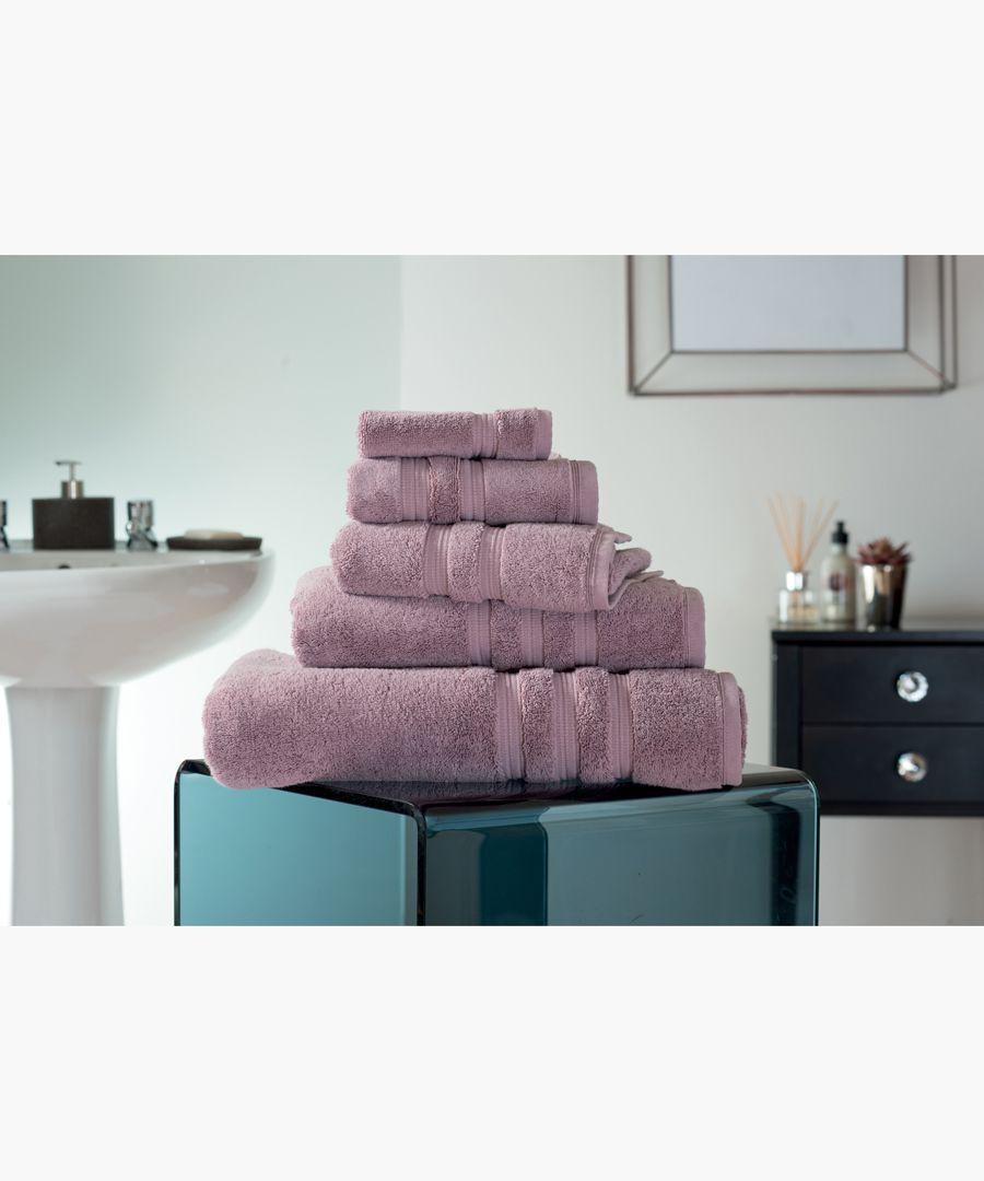 Mauve Turkish pima cotton hand towel