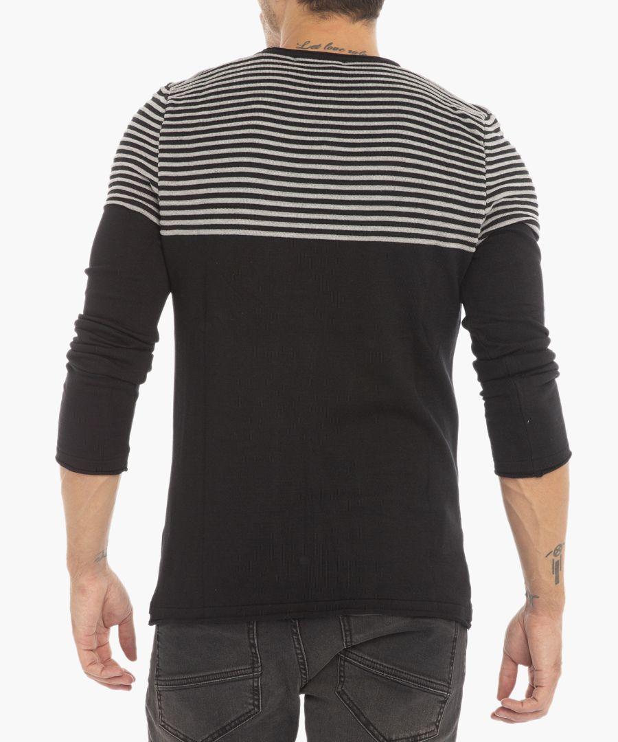 Black melange jumper