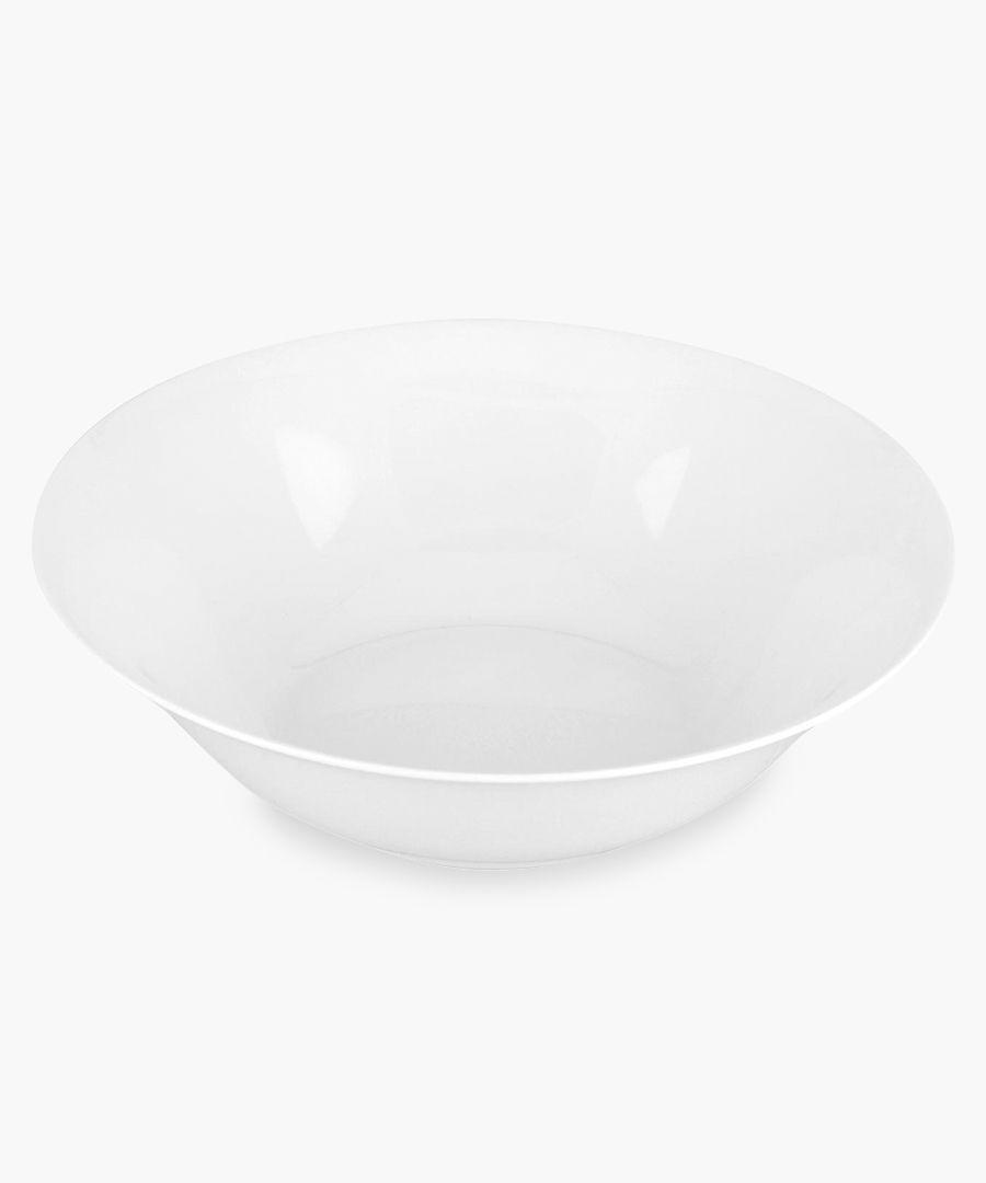 Serendipity plain white bone china open veg bowl