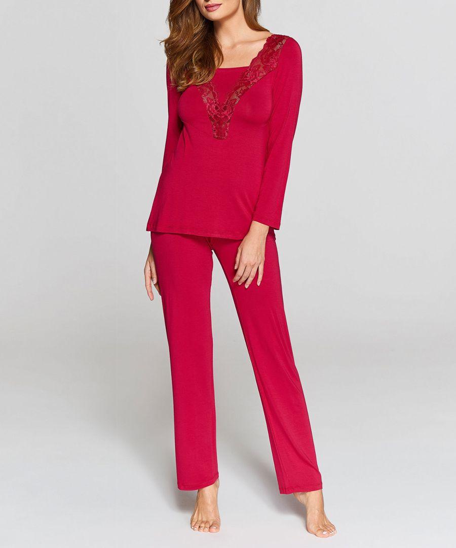 Ruby lace front pyjama set